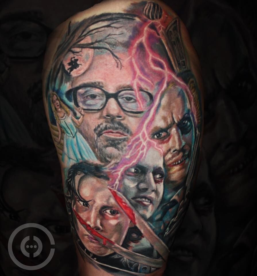 Best Johnny Depp Movie Sleeve Tattoo By Henrique Limited 640 x 480