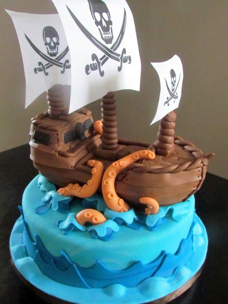 Pirate Ship Cake Check out my site wwwallthatfrostcom Cakes