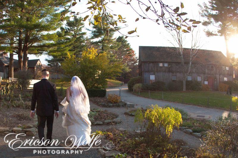 Old Sturbridge Village Rustic Wedding Bride And Groom Herb Garden Dusk Sunset Sturbridge Village Rustic Wedding Wedding Bride