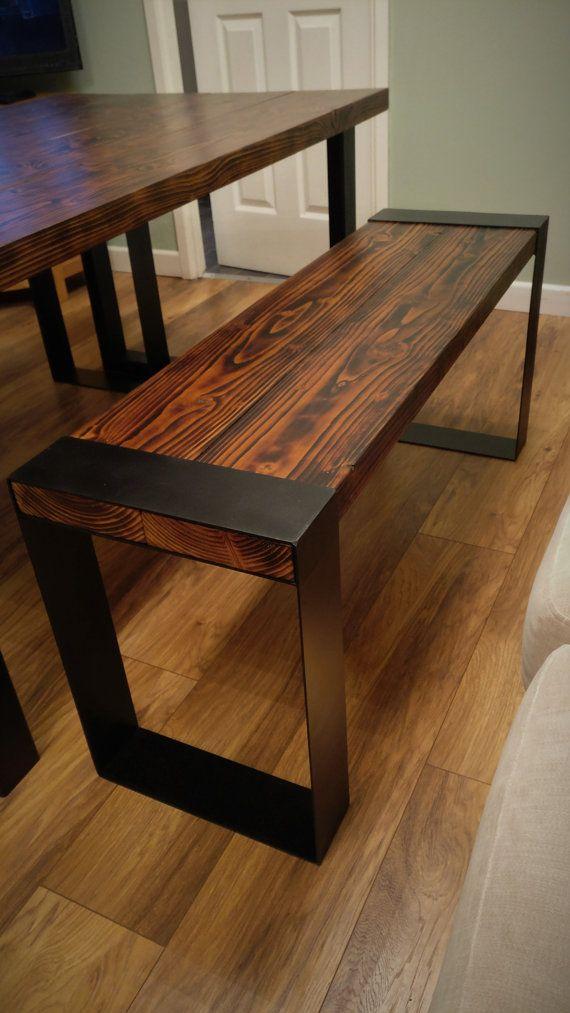 Industrial Dining Table and Bench   Mesa moderna, Convencional y ...