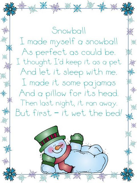 Snowball Poem - Re-pinned by @PediaStaff – Please Visit http://ht.ly/63sNt for all our pediatric therapy pins