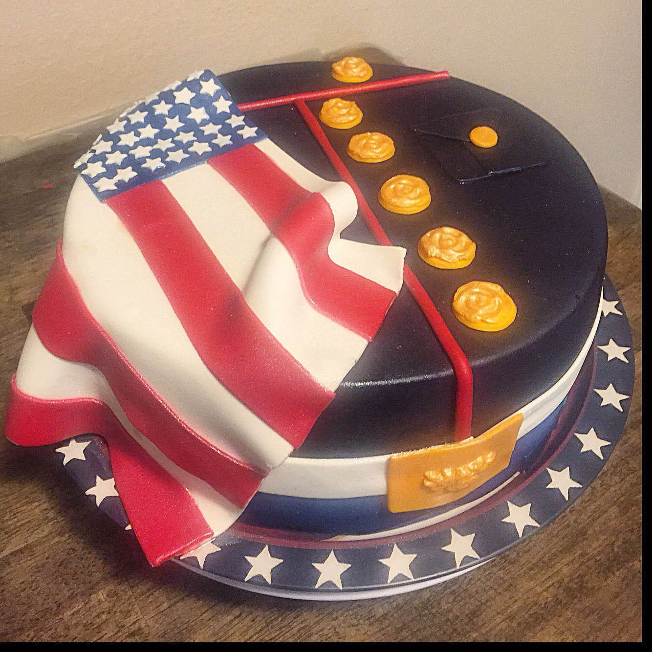 Marine Corps Dress Blues Cake Gave This To Bakery As Example Of What Make