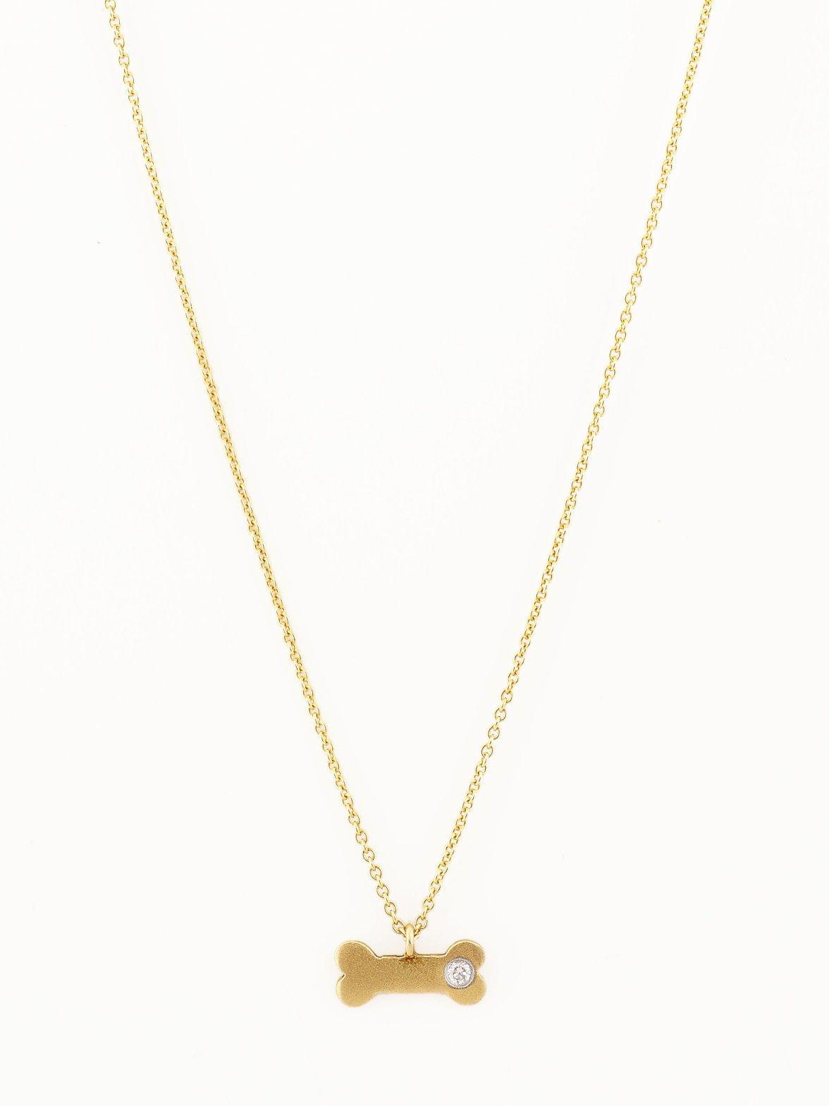 Meira t 14k dog bone pendant necklacedukes name engraved and the meira t 14k dog bone pendant necklacedukes name engraved and the year we got him 3 aloadofball Gallery