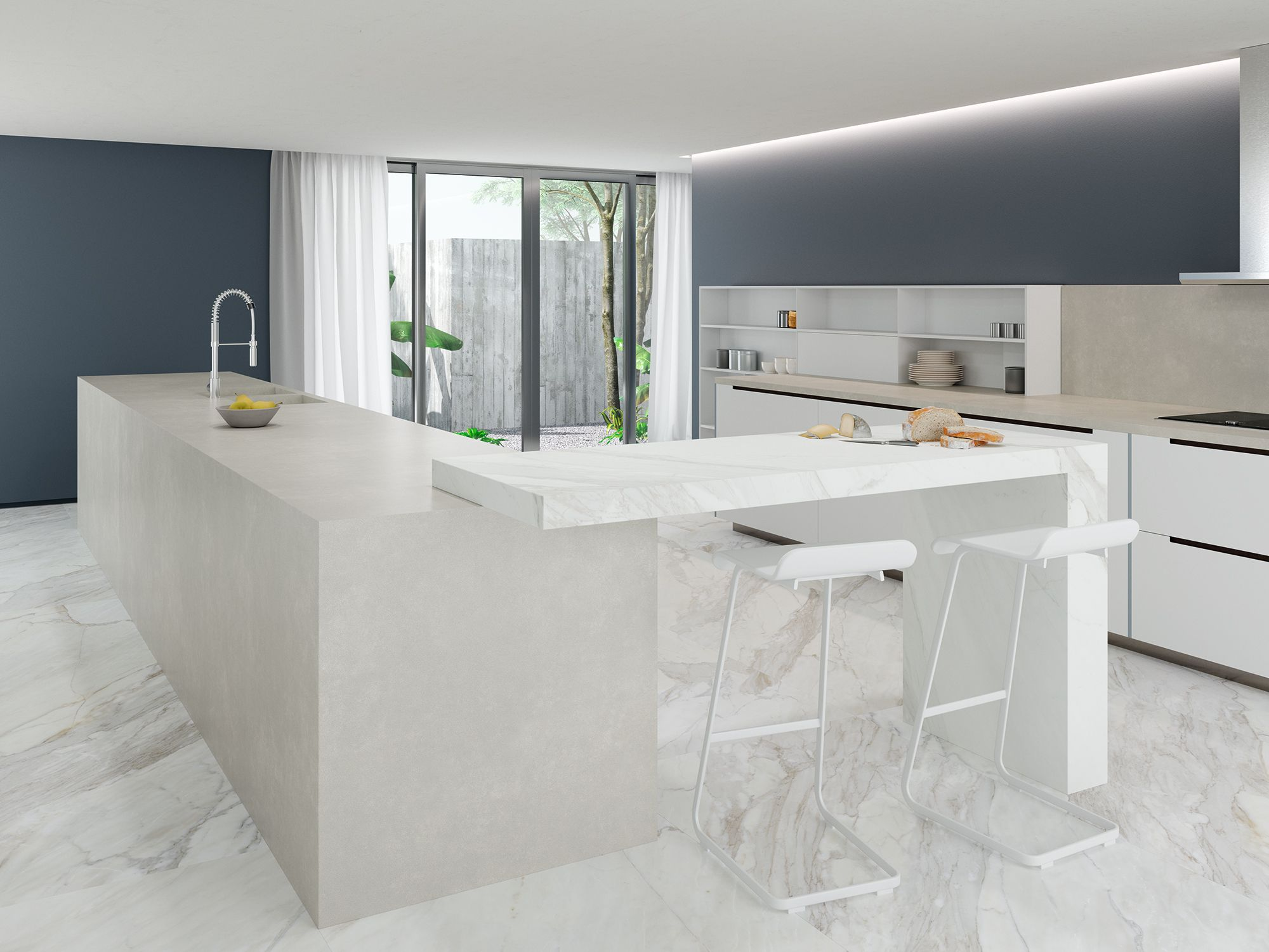 In The Design Of The Kitchen You Can Combine Two