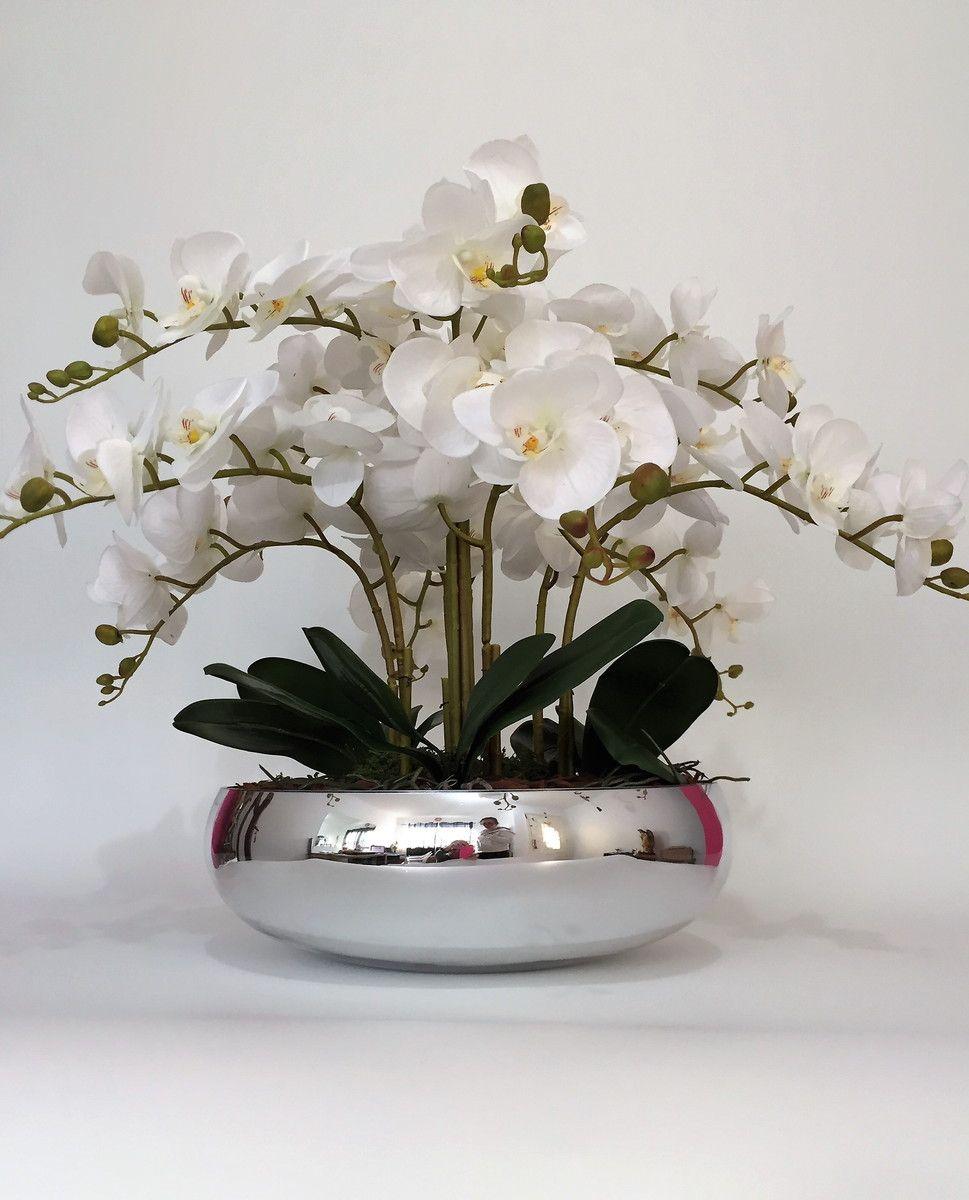 Arranjo Orquideas Silicone Espelhado Em 2020 Arranjos De