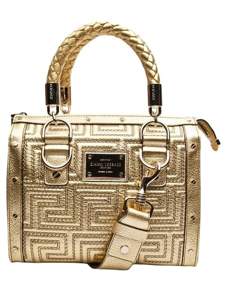 Golden Mini Handbag from Versace.  Glamourous!