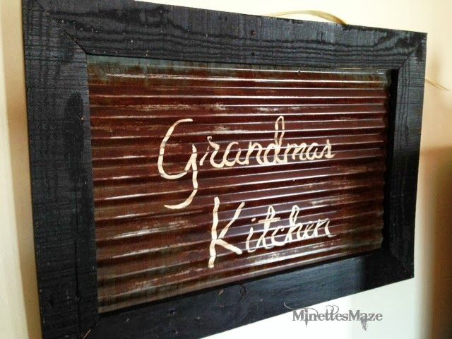 Rustic Wall Decor Galvanized Tin And Pallet Board