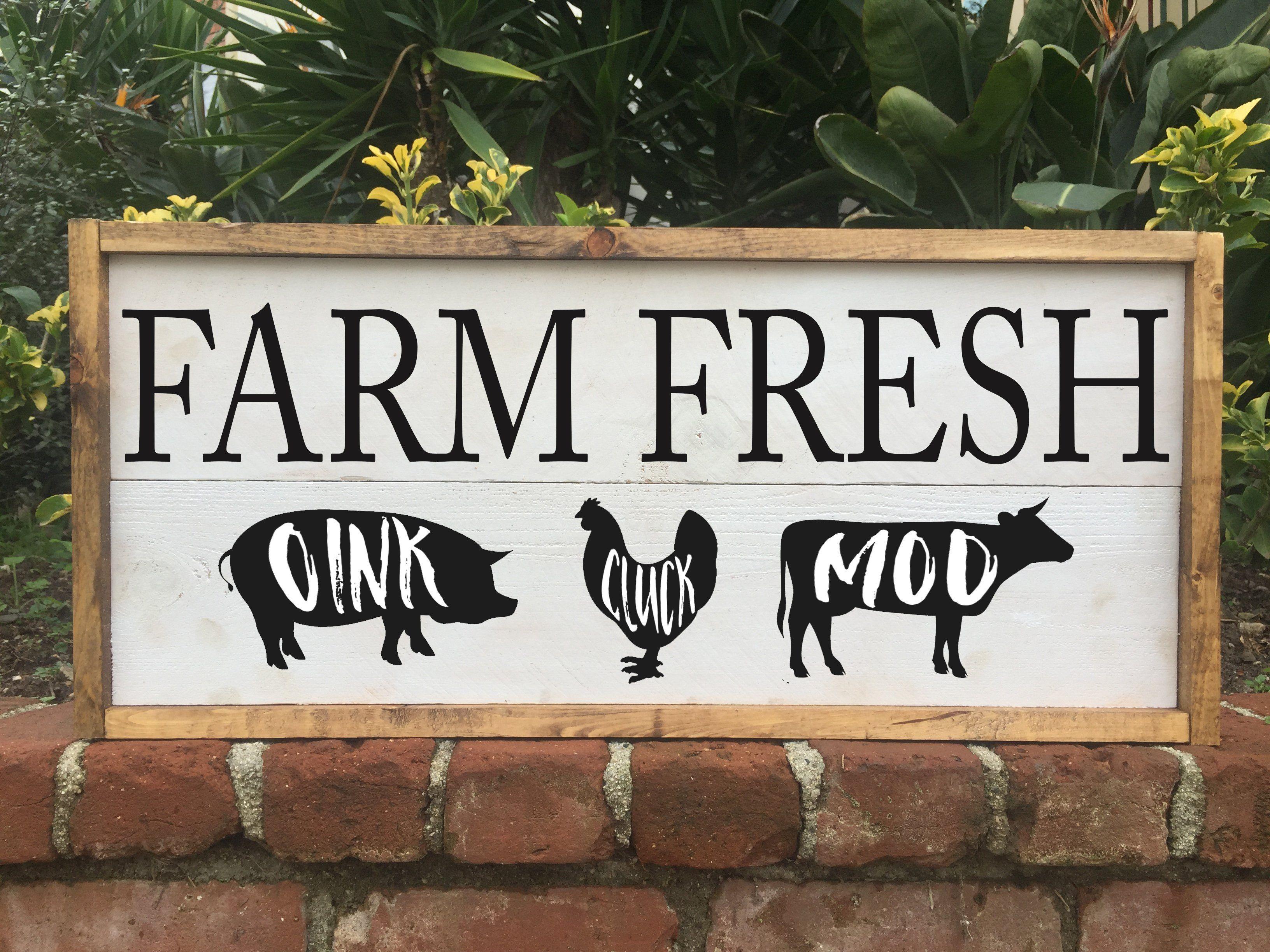 Farm Fresh Produce - Framed Artwork Rustic Home Decor ...