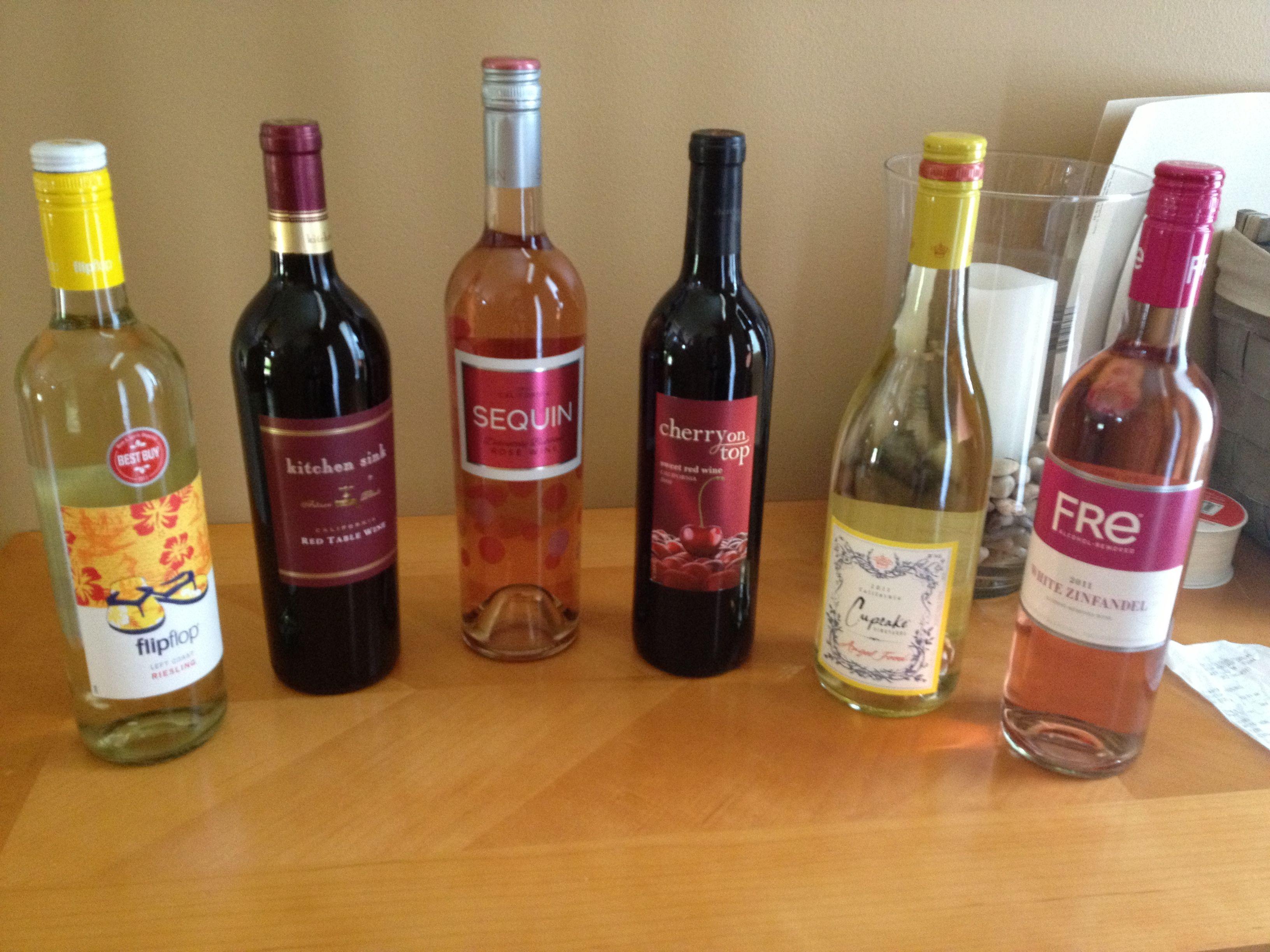 """Flip Flop"""" wine for Honeymoon """"Kitchen Sink"""" wine for First"""