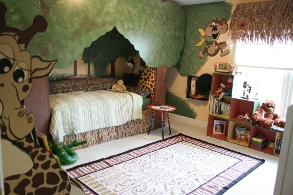 Jungle Themed Child Bedroom Kids Bedroom Themes Bedroom Themes