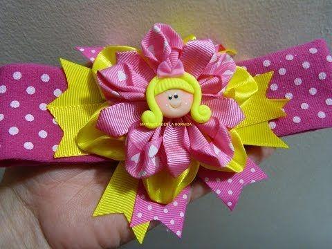 Moños Y Flores Faciles En Cinta Para Decorar Accesorios Para El Cabello Paso A Paso Youtube Tutorial Flor Hecha Con Cinta Tutorial De Lazo Moños Para Niñas
