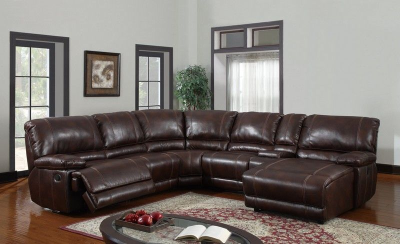 Marvelous FurniPlanet.com  Brown Leather Sectional Sofa