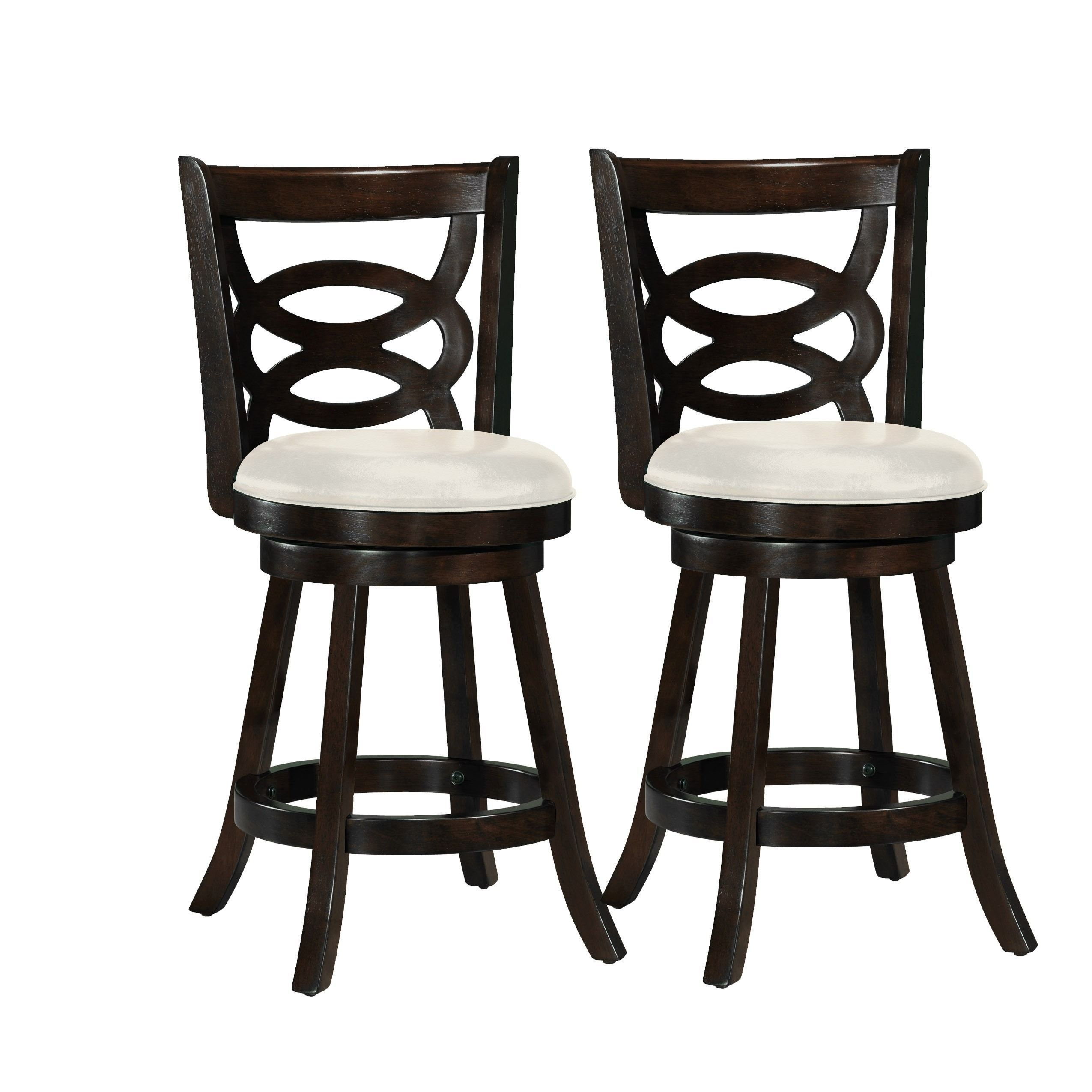 Copper Grove Delnice Counter Height Barstool With White