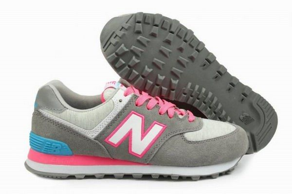 Joes New Balance 574 WL574HGP Retro lovers Pink Grey Womens Shoes
