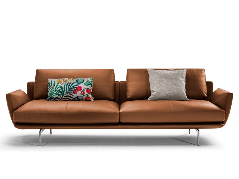 Download The Catalogue And Request Prices Of Get Back Leather Sofa By Poltrona Frau 2 Seater Leather Sofa Design In 2020 Leather Sofa Sofa Design Scandinavian Sofas