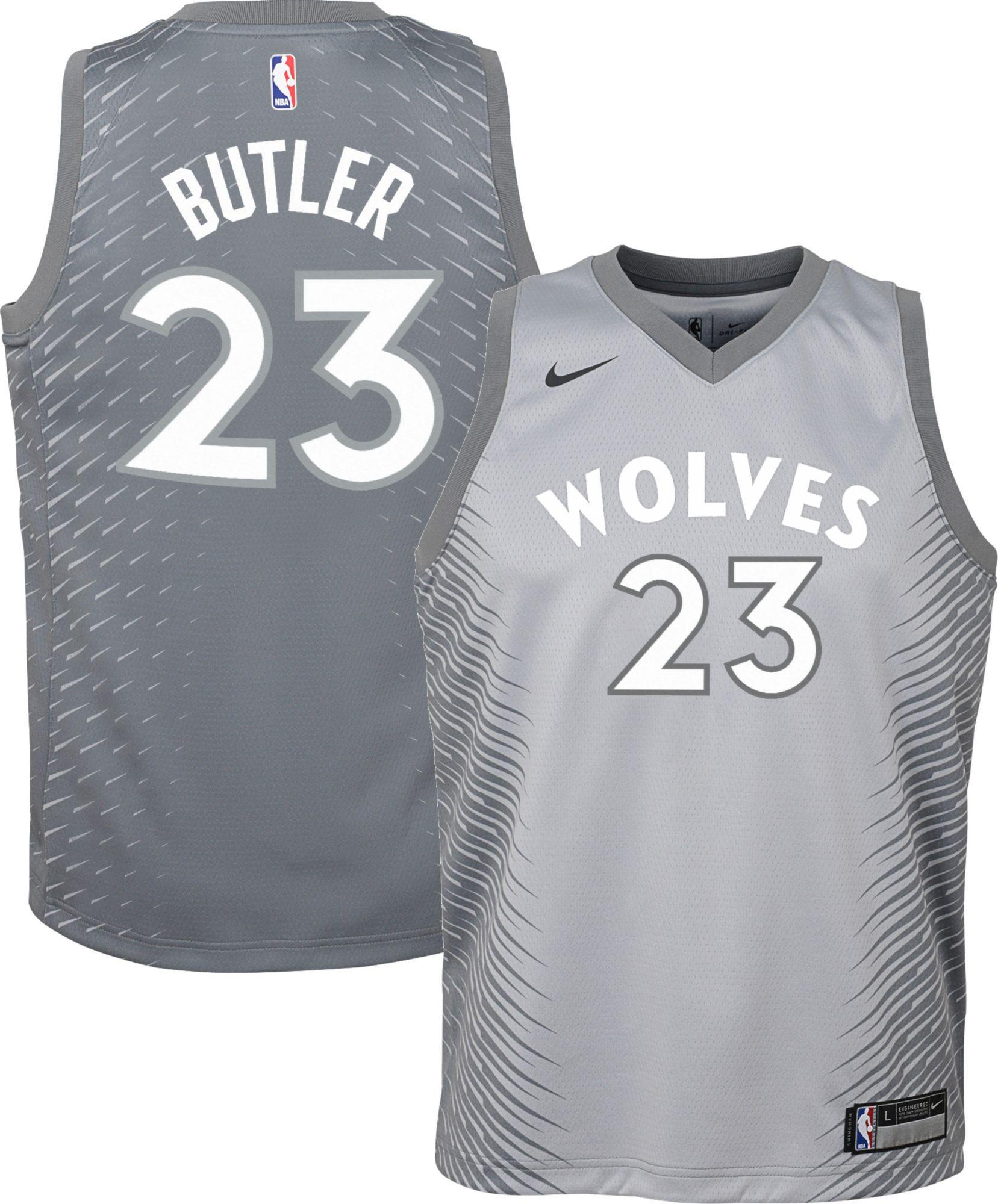 pretty nice 4b479 c3e09 Nike Youth Minnesota Timberwolves Jimmy Butler Dri-FIT City ...