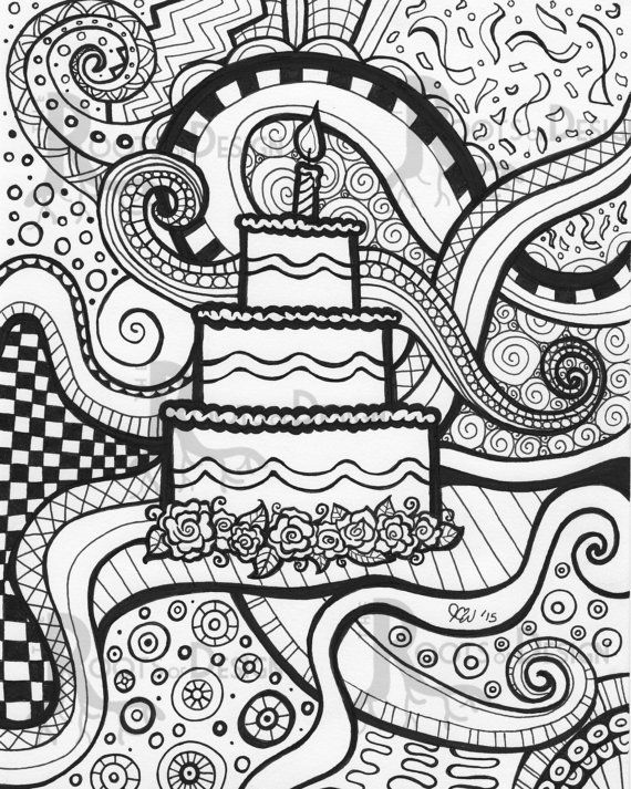 Instant Download- Coloring Page / Art print zentangle inspired ...