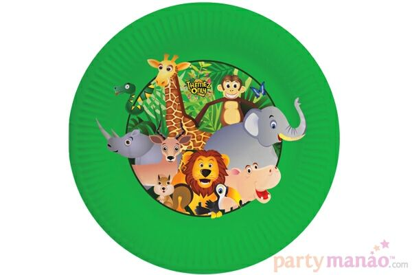 Jungle - Plates > Jungle Theme Supplies. Order it from partyManao.com