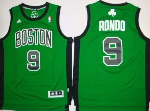 size 40 ad308 743fd Boston Celtics #9 Rajon Rondo Revolution 30 Swingman Green ...