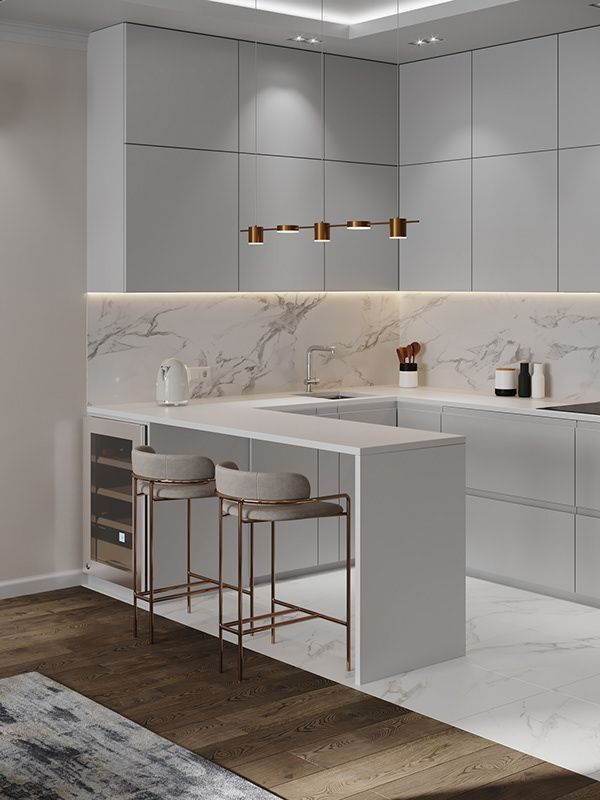 Apartment In Moscow Luxurykitchens In 2020 Minimalist Kitchen Design Luxury Kitchen Modern Kitchen Interior Design Modern