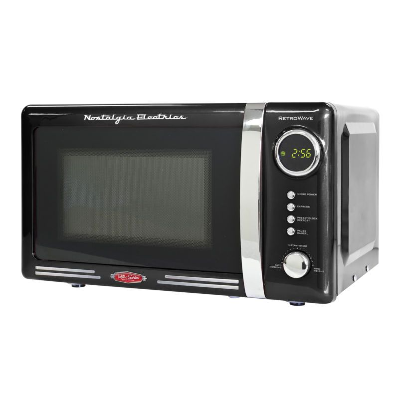 Nostalgia Rmo770blk Retro Series 0 7 Cu Ft 700 Watt Microwave Oven Free Ground Shipping Nostalgia Electrics Retro Nostalgia Electrics Countertop Microwave