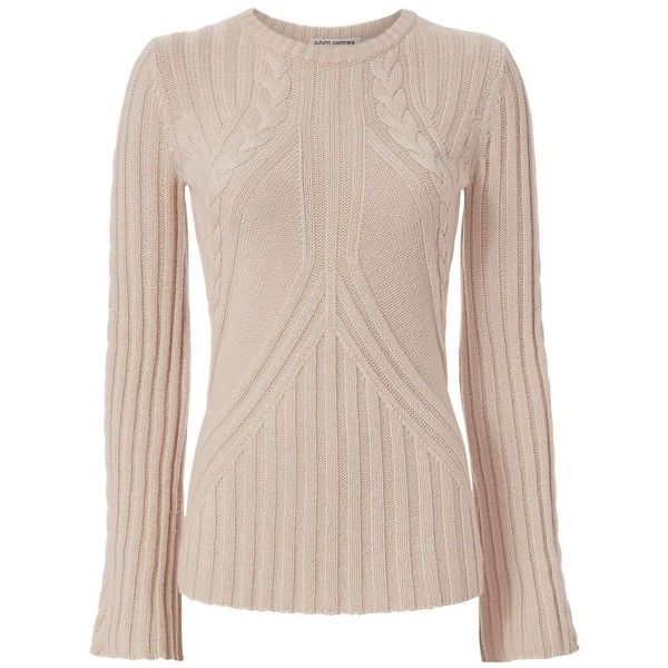 Autumn Cashmere Women's Bell Sleeve Cable Knit ($298) ❤ liked on ...
