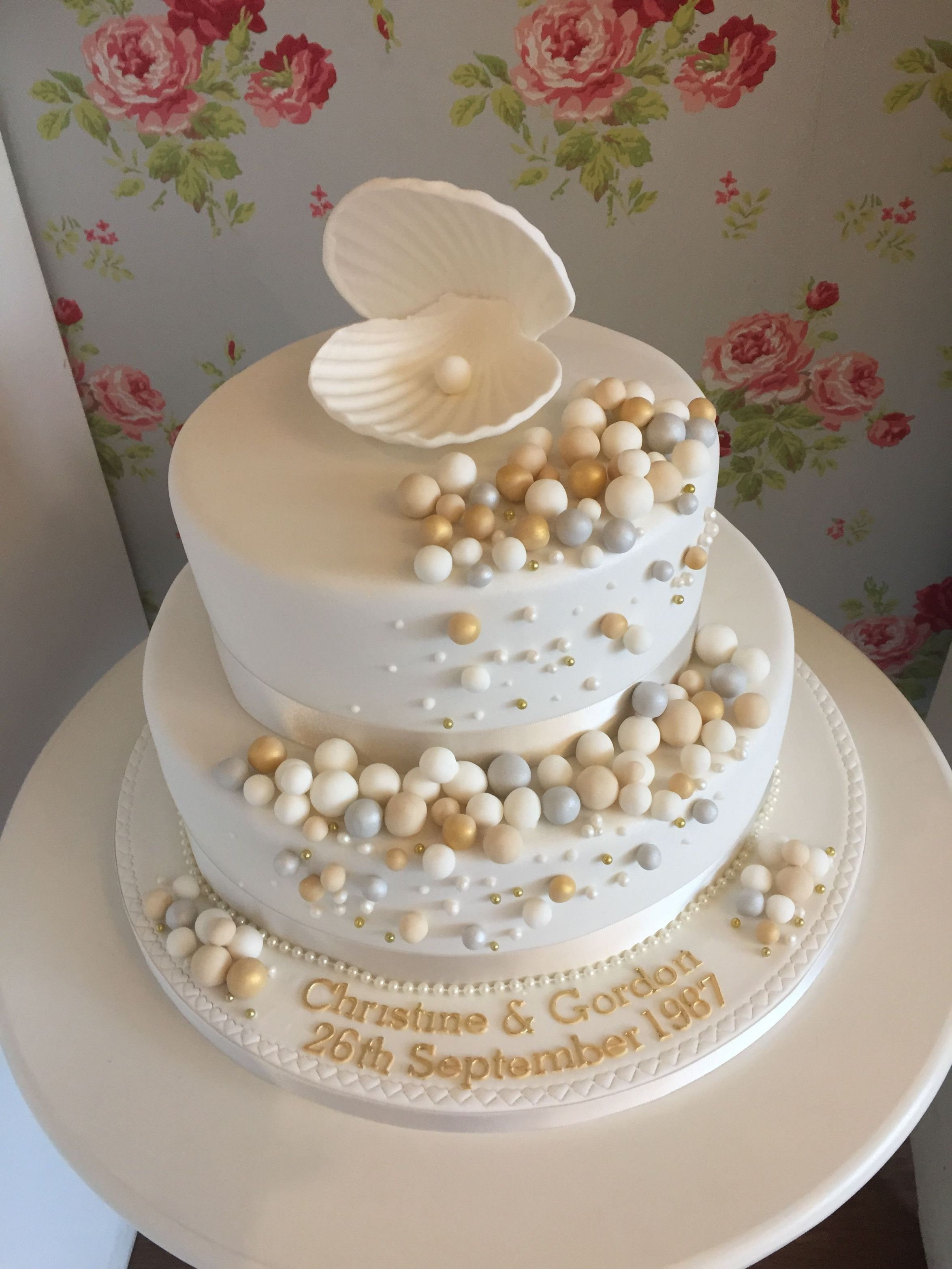 Seven Great Pearl Wedding Anniversary Cake Ideas That You Can