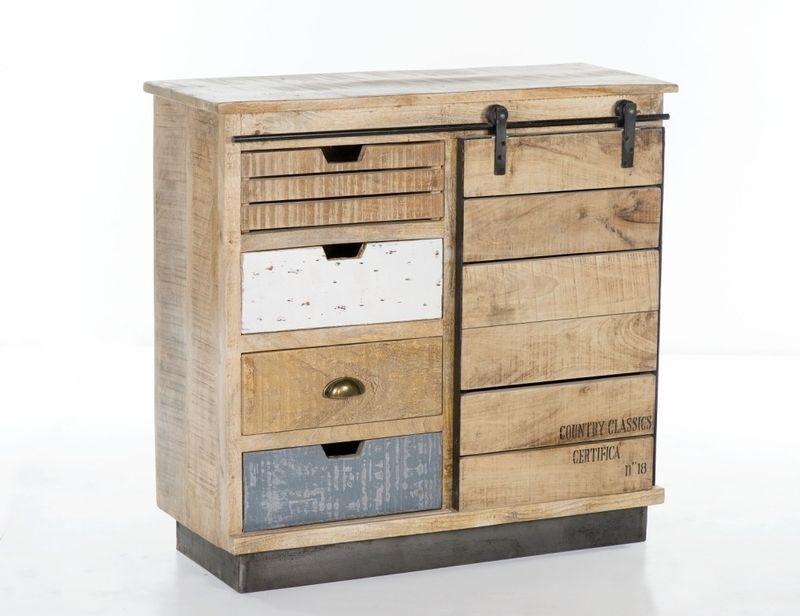 l ndliche kommode mit schiebet r kommoden sideboards. Black Bedroom Furniture Sets. Home Design Ideas