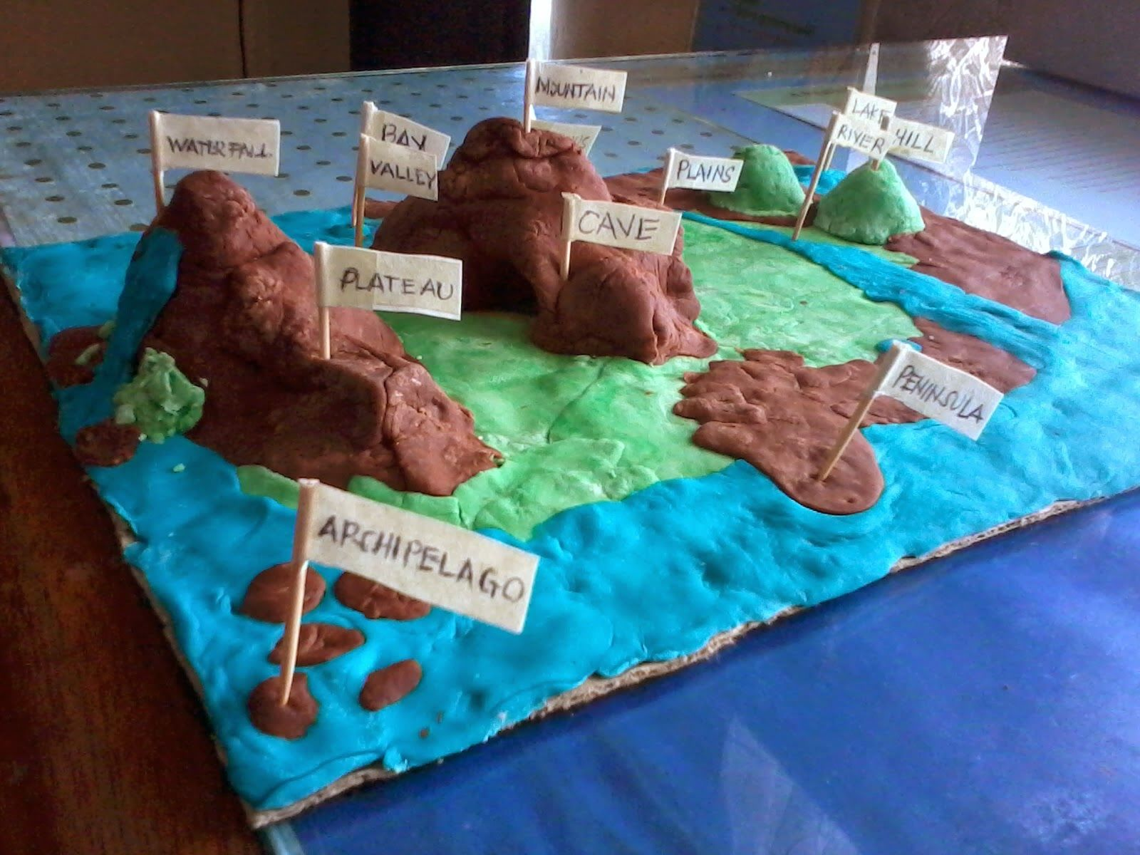 Land And Water Formations Plus Volcano Experiment