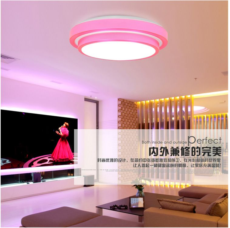 Double Aluminum Line LED Ceiling Light 15/24W Dia35CM acrylic flush ...