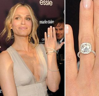 celebrity cushion cut engagement rings Furstenburg cushion cut