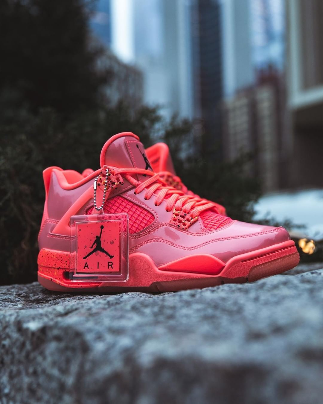 "9f0a61f8f1c1 Foot Locker on Instagram  ""Pack a punch. WMNS  Jordan Retro 4  Hot Punch   Launching 1 12"