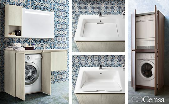 Cerasa movida mobili pinterest lavanderia lavanderia bagno e bagno - Mobile lavabo lavatrice ...