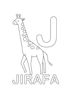 spanish alphabet coloring page j - Spanish Alphabet Coloring Pages