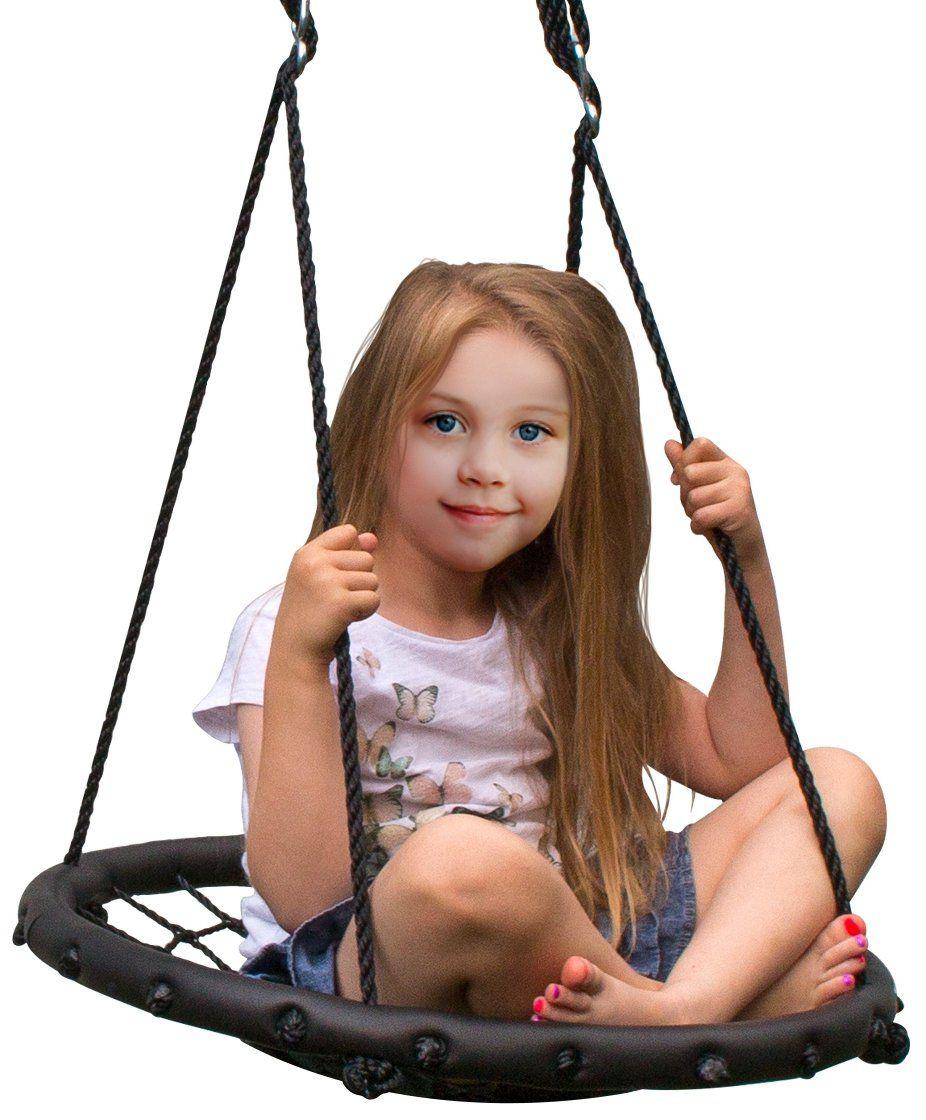 Sorbus Spinner Swing Kids Indoor Outdoor Round Web Swing Great