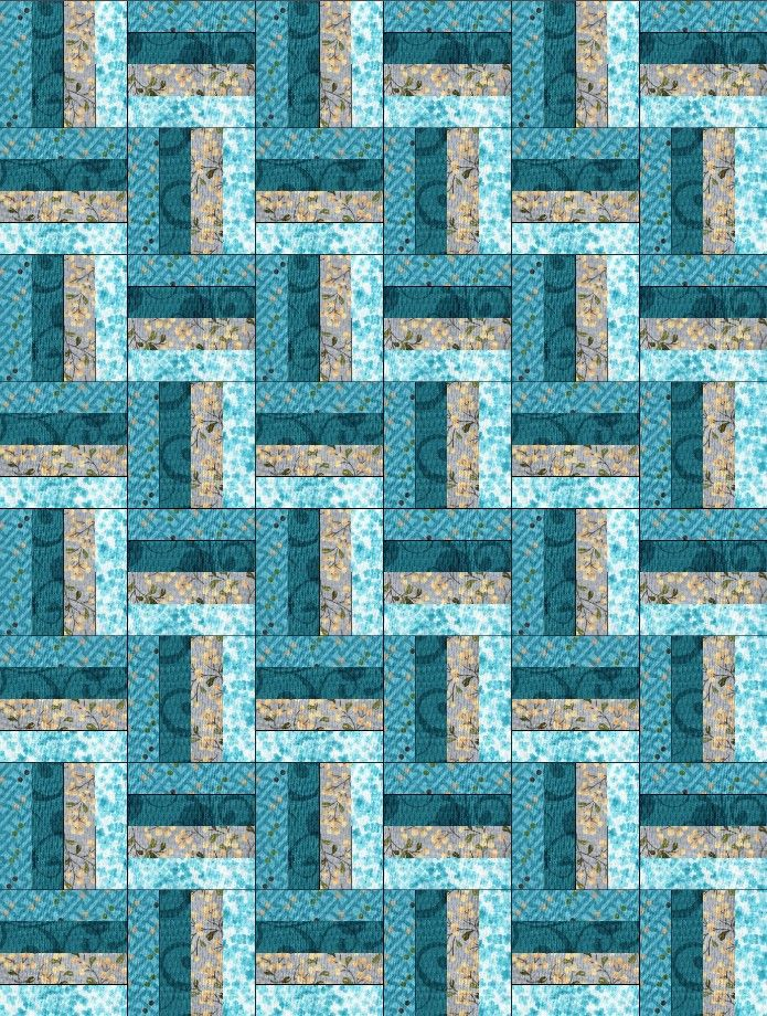 Reflections Blue Rail Fence Pre-Cut Quilt Blocks Kit – Quilt Kits ... : pre cut quilt blocks - Adamdwight.com