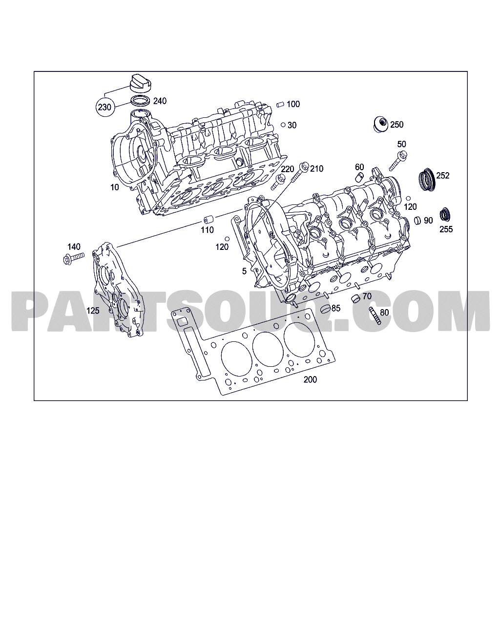 Mercedes Benz Parts Catalog >> Cylinder Head Gasket Kit Clk 350 Wdb2094562t064609 01 11
