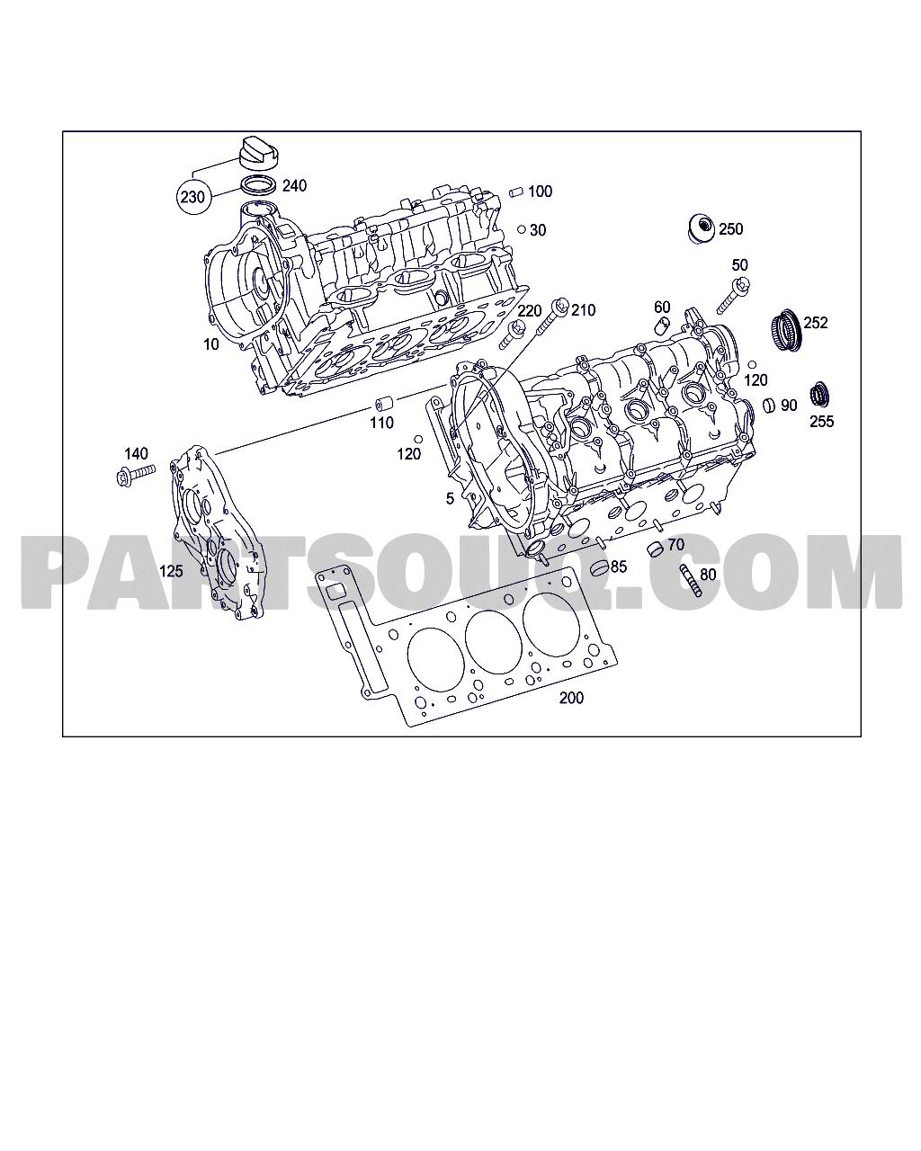 Mercedes Benz Parts Catalog >> Cylinder Head Gasket Kit Clk 350 Wdb2094562t064609 01 11 2005