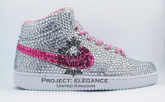 Custom Pink Nike Shoes as made for Trisha Paytas Rhinestone Nike, Hot Pink  Nike, Pink Nike Shoes, Pink Nike Crystal Sneakers Trainers