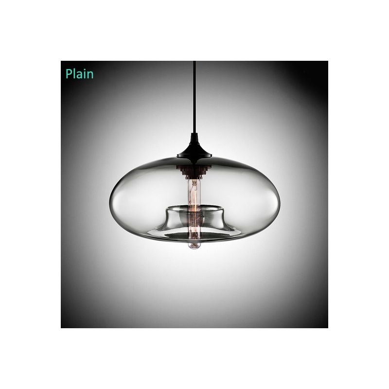 Lustre En Verre D28cm Moderne Decoratif Suspension En Conception De