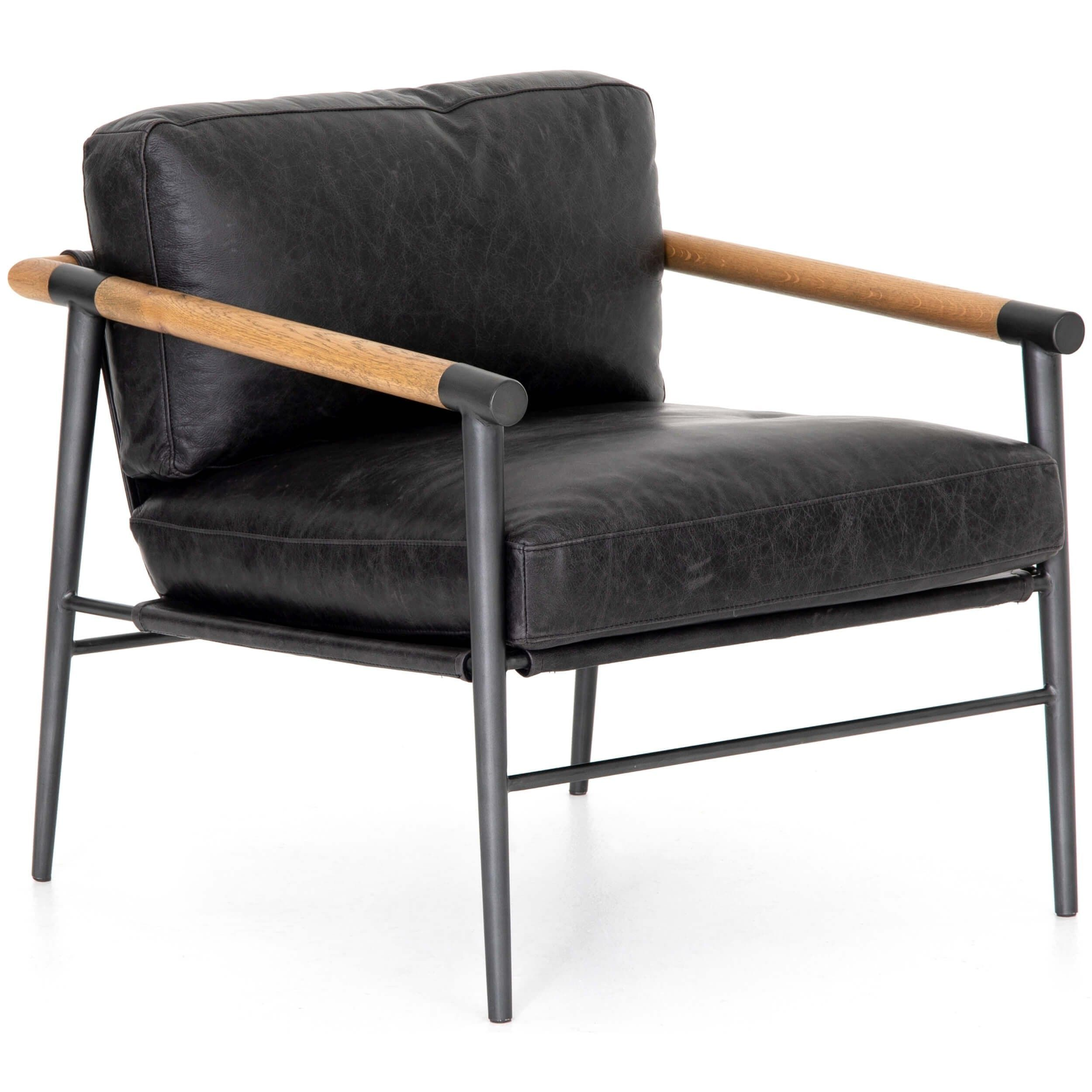 Available online only. Ships directly from the manufacturer. The Rowe Leather Chair will give a dose of modern-industrial edge that your home is asking for.