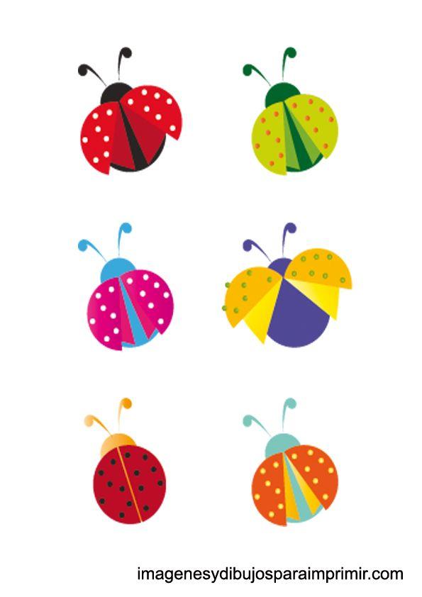 mariquitas de colores para imprimir | Ideas para fiestas | Pinterest ...