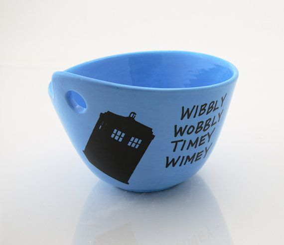 Who Yarn Bowl Wibbly Wobbly Dark Blue Inside Dr