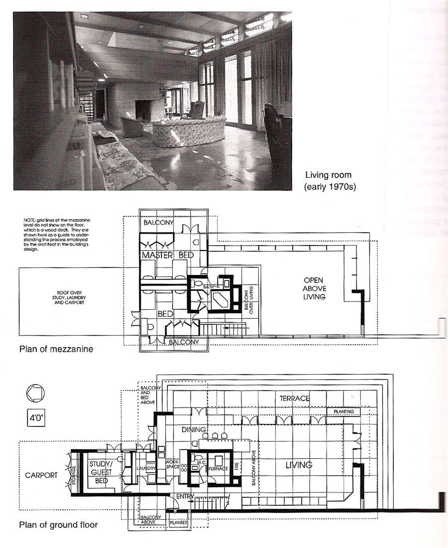 Bachman wilson house 1423 millstone river road millston Frank lloyd wright floor plan