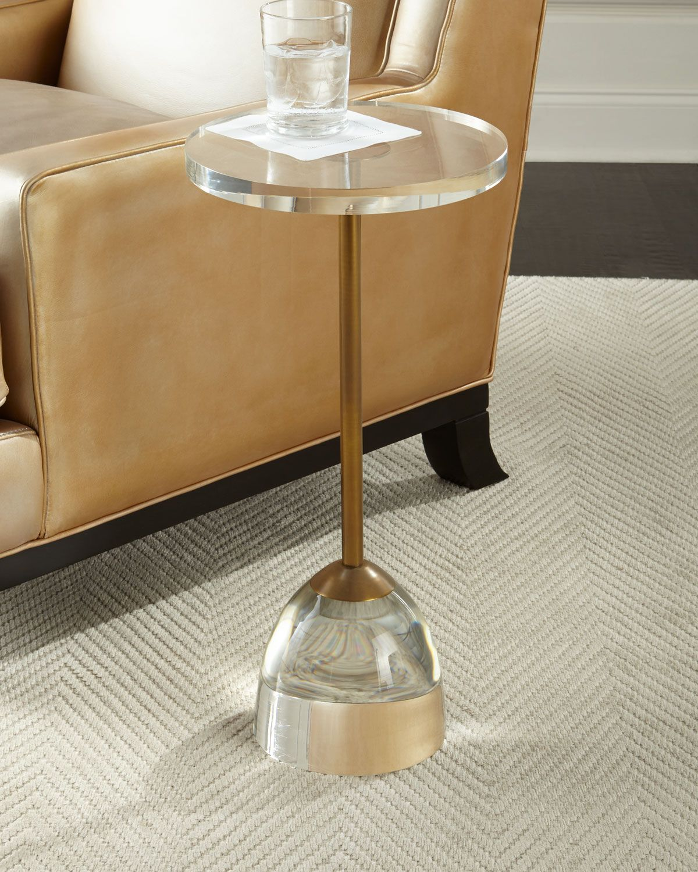 John Richard Collection Brass And Acrylic Martini Side Table Acrylic Side Table Side Table John Richard Collection