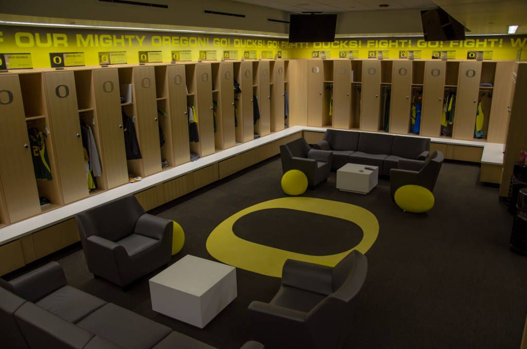 Ducks Basketball Locker Room
