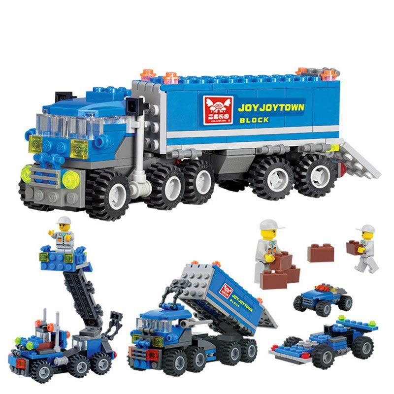 unids de plstico bloques de construccin para nios juguetes educativos infantiles para nios de camiones