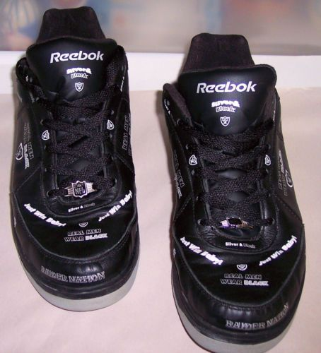 370e7892f37 Reebok-NFL-Raiders-Shoes-Black-Mens-Size-US14-UK13-Very-Hard-to-Find ...