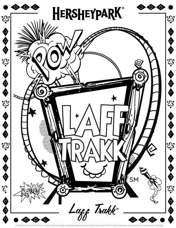 Laff Trakk coloring page #HersheyPA   funstuff   Pinterest ...