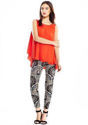 9405a3b9ced ATHENA MARIE Paisley Print Tummy Control Legging   Fashion   Tummy ...